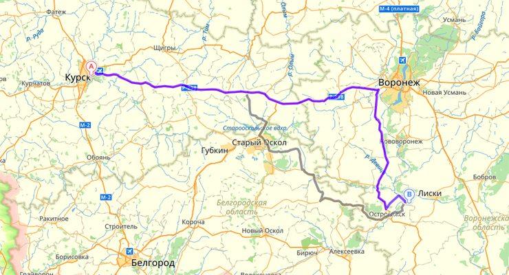 Дивногорье карта