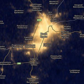 Blue Marble Navigator - Night Lights 2012 – Yandex