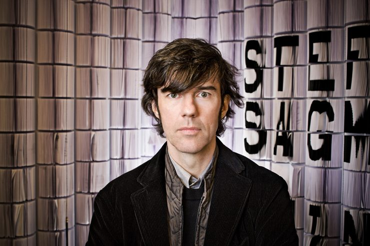 Stefan Sagmeister, graphic designer, winner of two Grammys and creator of the publication CULTURE. Copyright: John Madere.