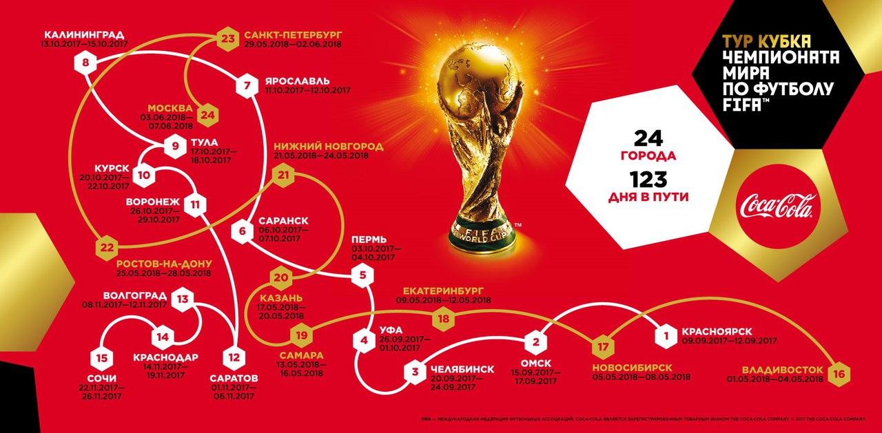 Новости  В Курск привезли Кубок Чемпионата мира по футболу 2018