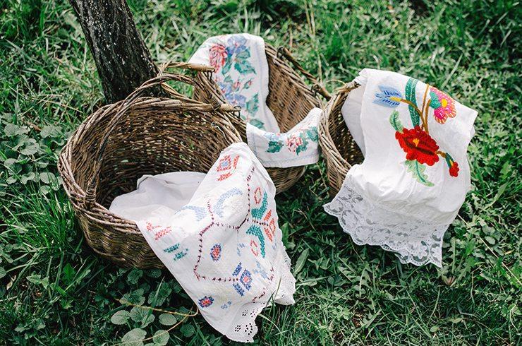 Корзинки-и-полотенца