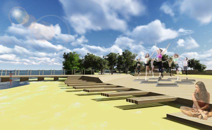 Темы  Перестройка: городской пляж